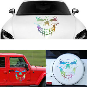 Skull Skeleton Car Hood Decal Rear Vinyl Side Door Sticker Fit For Car Truck
