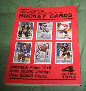 CHARLTON STANDARD CATALOGUE OF HOCKEY CARDS 5th  EDITION 1993