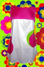 221 ✪ Twiggy Hippy Costume Panton pattern miniabito Retrò 60er 70er anni 4 pezzi