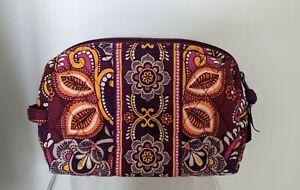 "Vera Bradley - Safari Sunset Retired Print- Plastic Lined 8"" Cosmetic Bag"