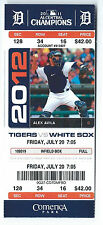 Justin Verlander win #118, Miggy Cabera 2B ticket; White Sox at Tigers 7/20/2012