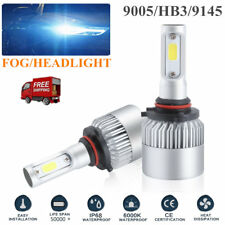 2x 9005 CREE LED Headlight HB3 9145 1200W 198000LM Bulbs Kit 6500K High Beam KD