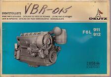 Deutz F6L 911 and 912 Industrial Diesel Engine Parts Manual