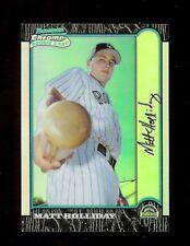 MATT HOLLIDAY Colorado Rockies *REFRACTOR* 1999 Bowman CHROME Baseball Card #400