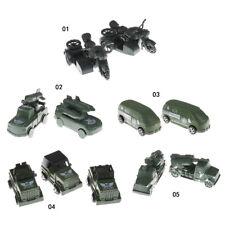 2x Militär Transport Anhänger LKW Modell Spielzeug Soldat Armee Männer Zubehör