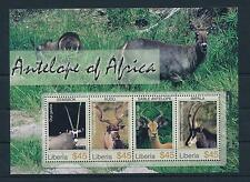 [36446] Liberia 2006 Wild Animals Mammals Antelope Mnh Sheet