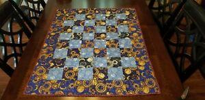 NEW Handmade Patchwork Baby Quilt Celestial Design Sun Moon Stars L 38 X W 31