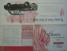 Morris Isis Saloon 1955-56 Original Canadian Market Foldout Sales Brochure E5564