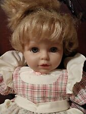 """Berenguer Doll 21"""" Blonde Hair/Blue Eyes/Turns Head/Long Eye Lashes Collectible"""