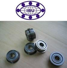 10 Stk. IBU Miniatur Kugellager mit Flansch / Bundlager  MF115 ZZ  5x11x4mm