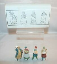 Department 56 Heritage Village Collection - Shopkeepers - Set of 4 - Iob