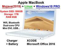 * CHRISTMAS GIFT* Macbook Hybrid SSD500+1TB RAM 8GB Mac Mojave + Linux + Office