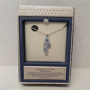 St Ann's Hospice Silver Plated Forget-Me-Not Cascade Necklace