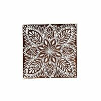 Leaves Square Wooden Printing Block Textile Printing Block Henna and Tattoo Bloc