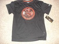 NWT AND1 basketball athletic t-shirt men's (L) large black w/ red