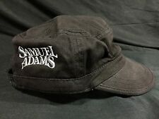 Samuel Sam Adams Beer Cargo Hat Military Style Black Embroidered New!!