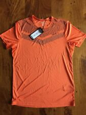 NEW VERY RARE men's CRAFT Eaze short sleeve running shirt | small | orange/black