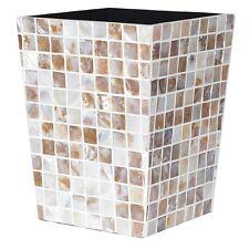 Mosaic shell Waste Bin beautiful bin matches travertine tiles