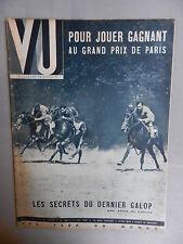 VU. N° 588 - 21 juin 1939. Pour jouer gagnant au Grand Prix de Paris.