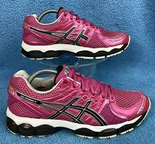rare ASICS gel NIMBUS 14 Neon Pink Black Running Walking 40.5 women's 9