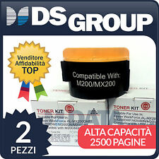 2pz. TONER COMPATIBILI EPSON NERO MX200 WORK FORCE AL-MX200DNF AL-M200DN S050709