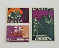 DARGUN REUTERGELD NOTGELD 10, 25, 50 PFENNIG 1921 NOTGELDSCHEINE (11995)