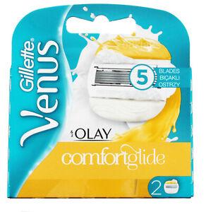 2 Gillette Venus Comfortglide & Olay (Olaz) Klingen Klingen Frauen Damen Women