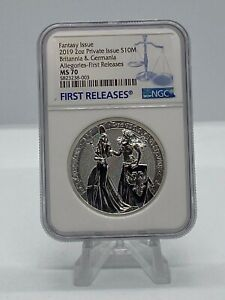 2019 Allegories Britannia & Germania 2 oz 10 Mark NGC MS70 First Releases