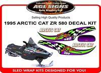 1995 Arctic Cat ZR 580 Reproduction Decal Set    graphics sticker