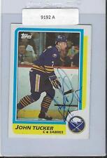 John Tucker 1986 Topps Autograph #67 Sabres