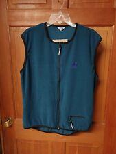 XL Pearl iZUMi Cloud 9 Fleece Zip Cyclist Vest Teal Style 7024 NWT Unisex