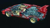 A3 Lamborghini Countach Cutaway Drawing Wall Poster Art Picture Print