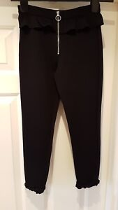River Island Beautiful Zip Front Trousers In Black Colour Age 9/10 Yrs Old