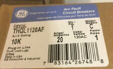 GENERAL ELECTRIC GE THQL1120AF 20 amp arc fault afi afci  breaker aic 10ka