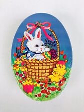 Vintage Made In Hong Kong Giftco Inc. Small Tin Easter Bunny Spring