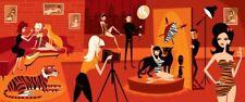 Josh Agle SHAG Bunny & the Beasts Serigraph Art Print COA SIGNED MCM