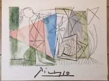 """NEW Pablo Picasso Signed and Numbered Lithograph """"Flute Player and Gazelle"""""""