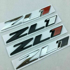 For Chevy CAMARO NEW metal ZL1 trunk Badge Emblem Rear Hood Nameplate Sticker