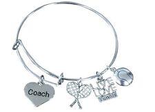 Tennis Coach Bracelet, Tennis Bangle Jewelry, Perfect Tennis Coach Gift