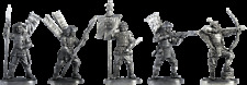 """Tin soldier, figure. A set of tin soldiers - The """"Asigaru"""" 40-50 mm 5 figures"""