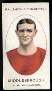 Tobacco Card, Smith, FOOTBALL CLUB RECORDS, 1922,R Williamson,Middlesbrough, #35