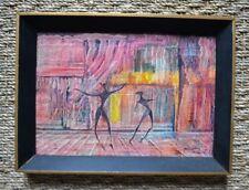 Peinture à l'huile d'Antonio Vasquez Parra - Danse - Surréalisme - XXème
