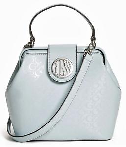 NEW GUESS Christi Womens Handbag Satchel Crossbody Shoulder Bag Blue BNWT