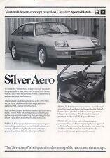 Vauxhall Cavalier Silver Aero Concept Car 1980 Original UK Sales Brochure V2499