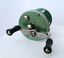 Vintage TRUSTY FISHING REEL - GREEN - MADE IN U.S.A. Works Great