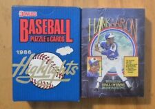 1986 Donruss Highlights Collectors 56 Baseball Card Set + Hank Aaron Puzzle Card