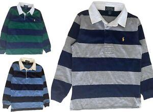 Boys Ex Ralph Lauren Rugby T shirt long sleeve top 2 3 4 5 6 7 8 10 14 16