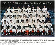 DETROIT TIGERS WORLD SERIES 8X10 TEAM LOT OF 4 PHOTOS 1968 1984 1945 1935