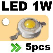 531/5# LED 1W Blanc pur --- 5pcs