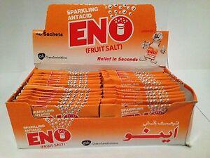 ENO FRUIT SALT 48 SACHETS ORANGE FAST REFRESHING RELIEF BRAND NEW FREE P&P